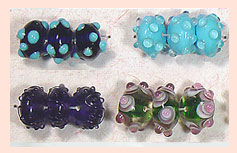 Hand Carved Glass Beads